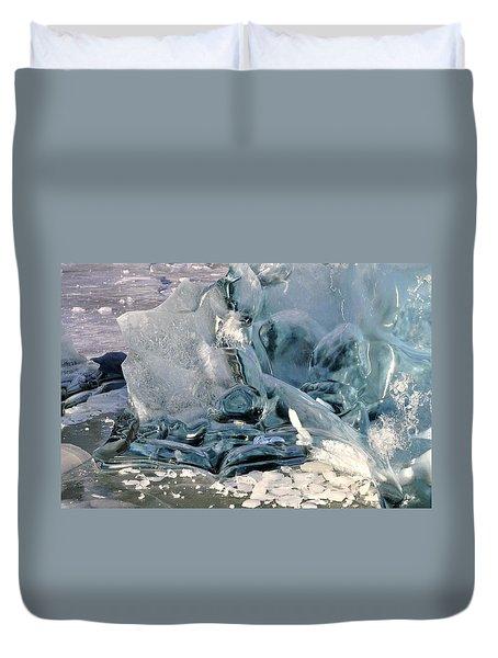 Iceberg Detail - Mendenhall Lake Duvet Cover