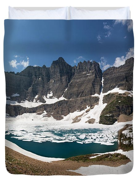 Duvet Cover featuring the photograph Iceberg Lake by Aaron Aldrich