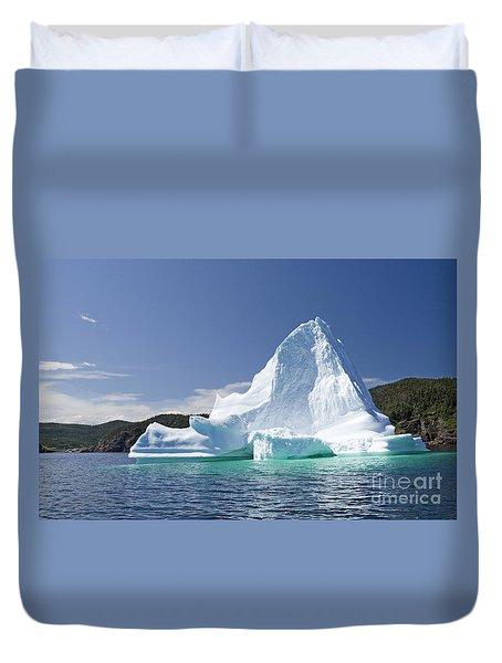 Duvet Cover featuring the photograph Iceberg Newfoundland Canada by Liz Leyden