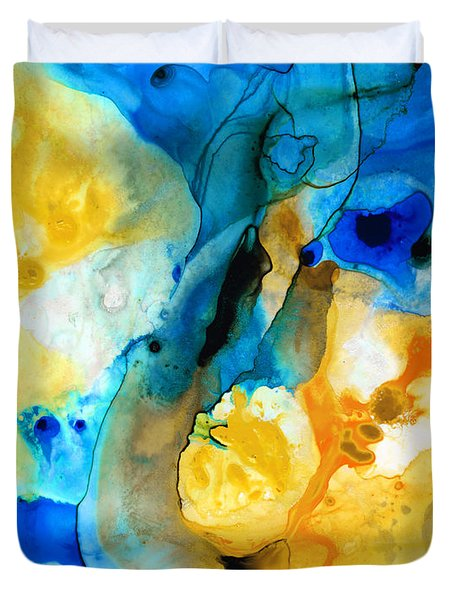 Iced Lemon Drop - Abstract Art By Sharon Cummings Duvet Cover by Sharon Cummings