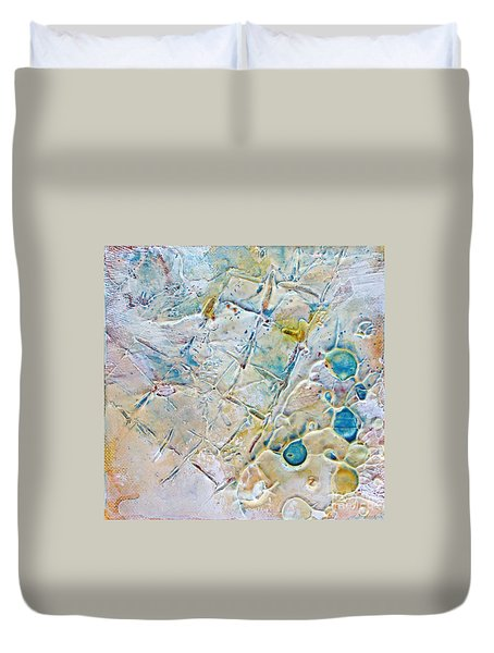 Duvet Cover featuring the mixed media Iced Texture I by Phyllis Howard