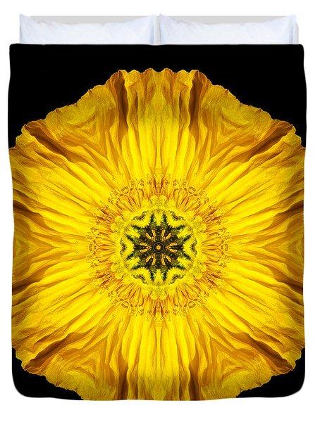 Iceland Poppy Flower Mandala Duvet Cover