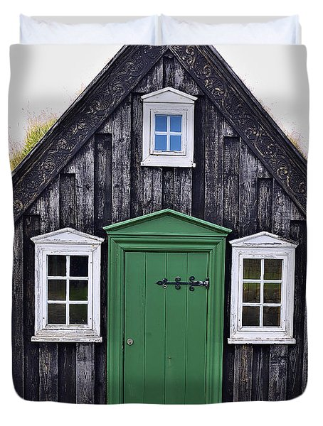 Icelandic Old House Duvet Cover