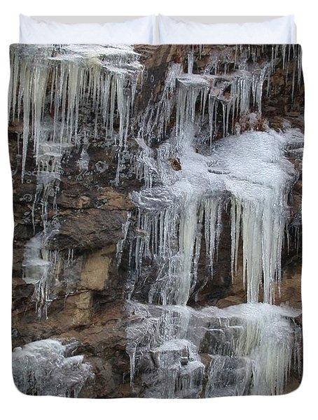 Icicle Cliffs Duvet Cover