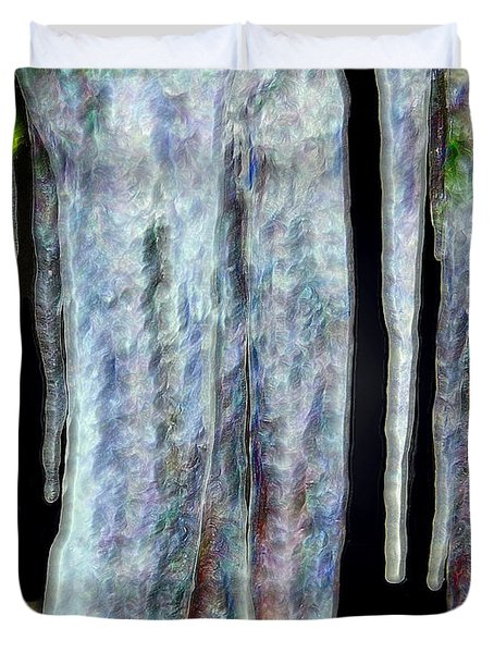 Icicles  Duvet Cover by Daniel Janda