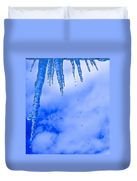 Icicles Melting Duvet Cover