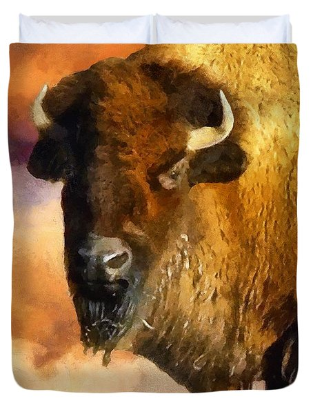 Icon Of The Plains Duvet Cover by RC deWinter