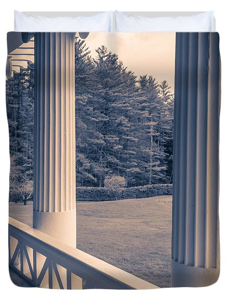 Iconic Columns On An Estate Duvet Cover