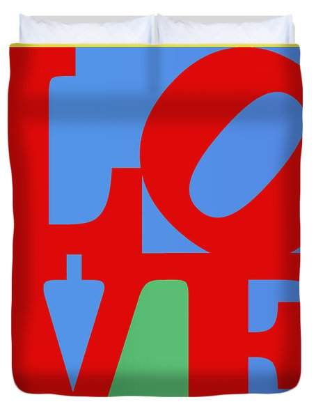Iconic Love Duvet Cover by Paulette B Wright