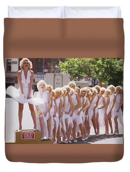 Iconic Marilyn Duvet Cover by Shaun Higson