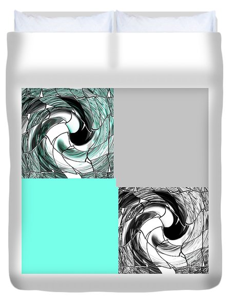 Icy Blue Duvet Cover