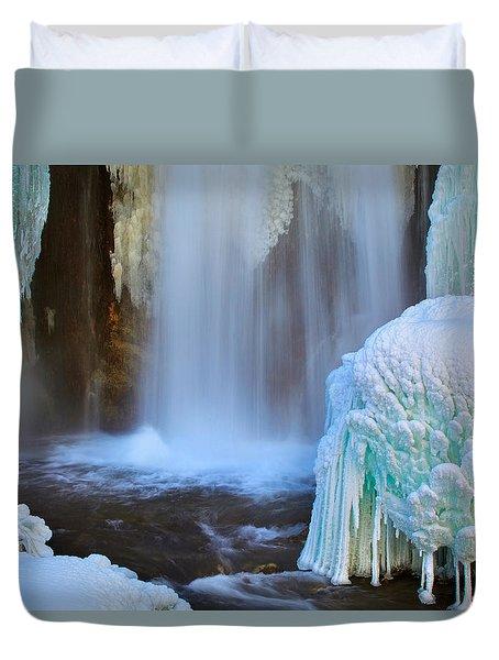 Ice Falls Duvet Cover by Kadek Susanto