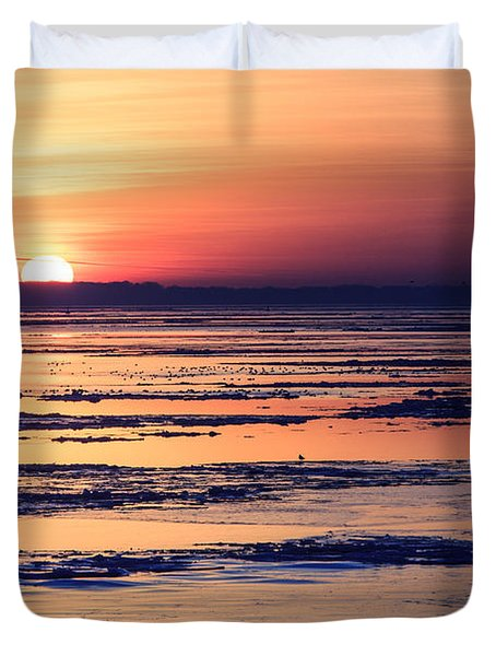 Icy Sunrise Duvet Cover