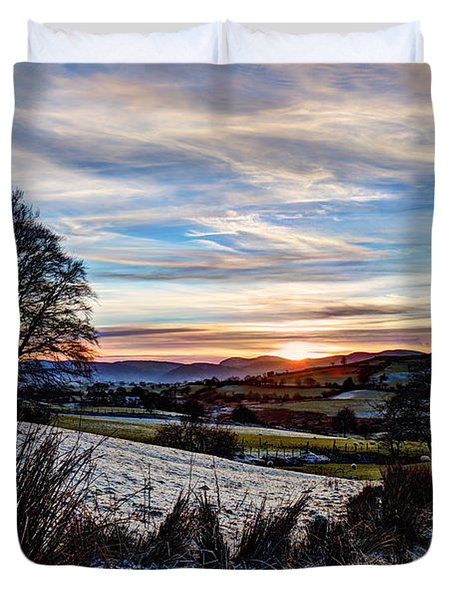 Icy Sunset Duvet Cover