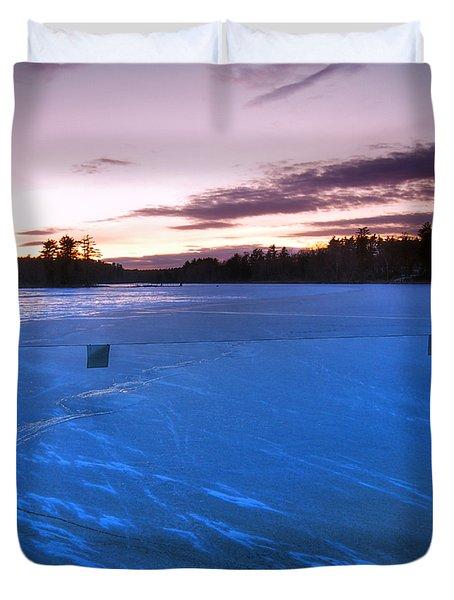 Icy Sunset Duvet Cover by Joann Vitali