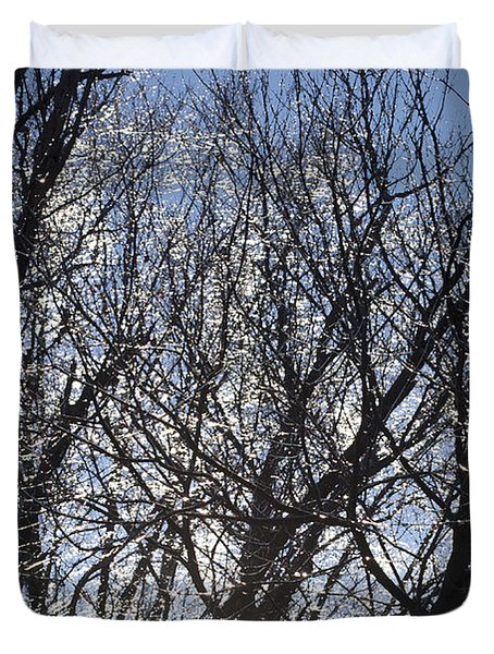 Icy Trees  Duvet Cover by Luther   Fine Art