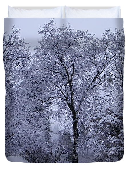 Icy Trees Duvet Cover