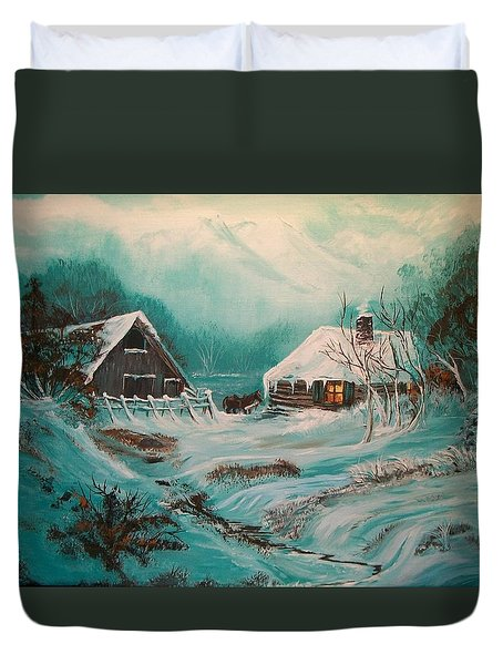Icy Twilight Duvet Cover