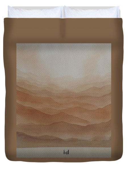 Duvet Cover featuring the painting id by Richard Faulkner