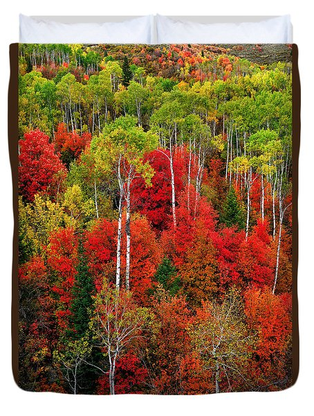 Idaho Autumn Duvet Cover by Greg Norrell
