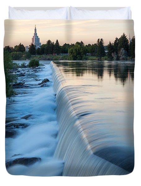 Idaho Falls Sunset Duvet Cover