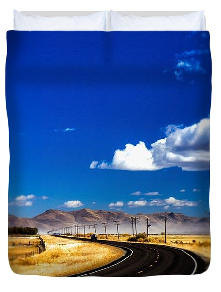 Idaho Road Titl Shift Duvet Cover by For Ninety One Days