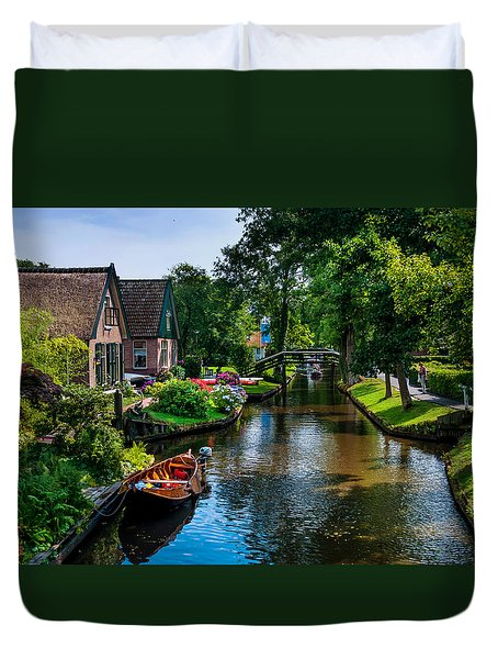 Idyllic Village 15. Venice Of The North Duvet Cover