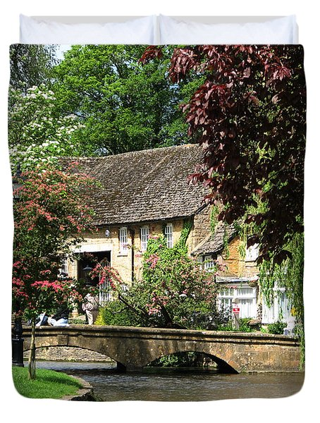 Idyllic Village Scene Duvet Cover