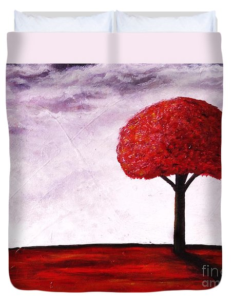 Duvet Cover featuring the painting If I Were A Tree by J L Zarek