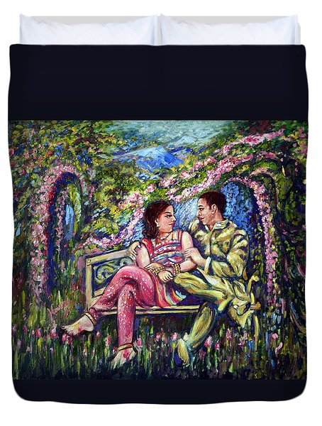 Duvet Cover featuring the painting If I Will Get Your Love by Harsh Malik