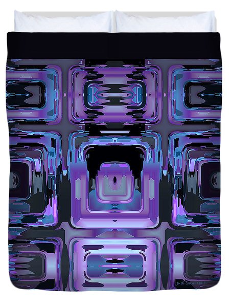 Duvet Cover featuring the digital art If Then Else by Judi Suni Hall