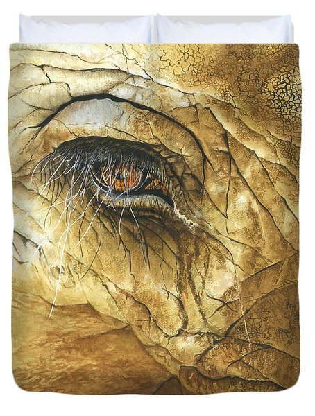 Duvet Cover featuring the painting If You Could See What I've Seen... by Barbara Jewell