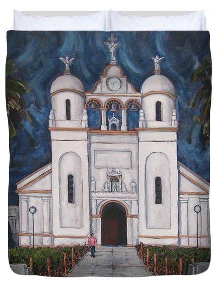 Iglesia Curridabat  Costa Rica Duvet Cover