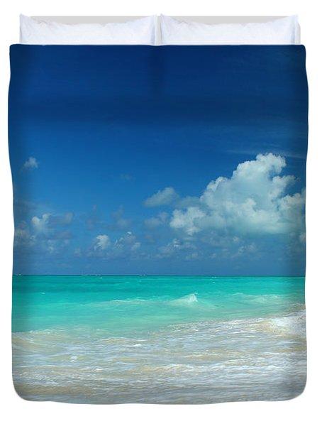Iguana Island Caribbean Duvet Cover