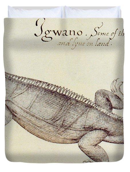 Iguana Duvet Cover by John White