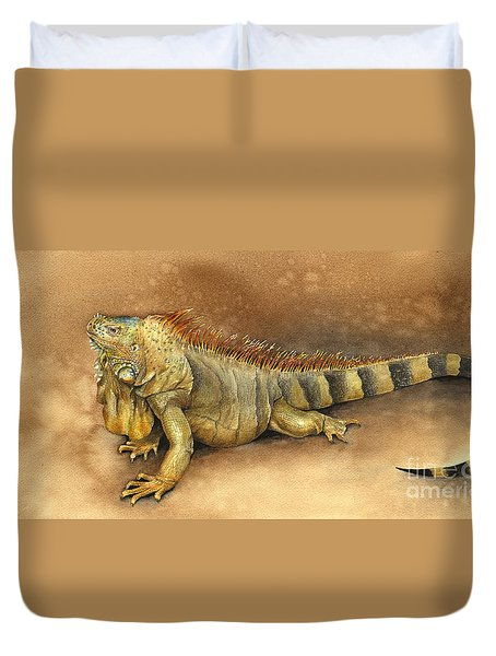 Iguana Duvet Cover by Nan Wright