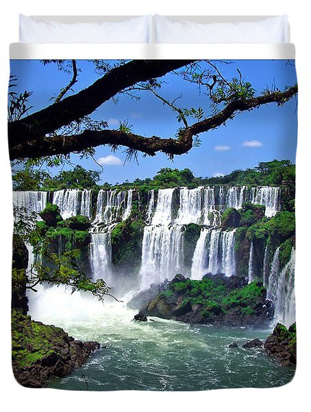 Iguazu Falls In Argentina Duvet Cover