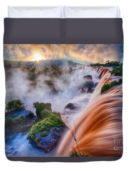 Iguazu Sunrise Duvet Cover by Inge Johnsson