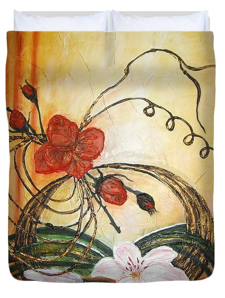 Ikebana IIi Duvet Cover