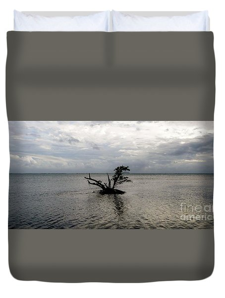 Ikebana Sunset Duvet Cover by Amar Sheow