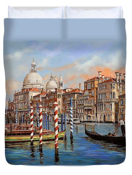Il Canal Grande Duvet Cover by Guido Borelli