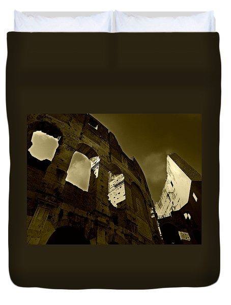 Il Colosseo Duvet Cover by Micki Findlay