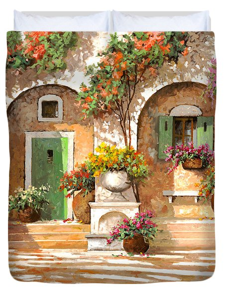 Il Cortile Duvet Cover by Guido Borelli