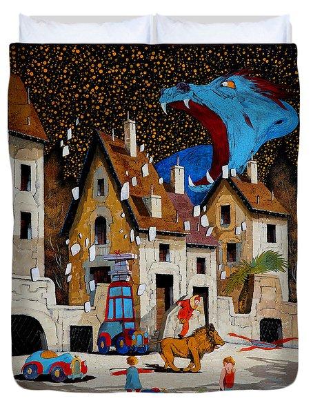 Il Drago Duvet Cover by Guido Borelli