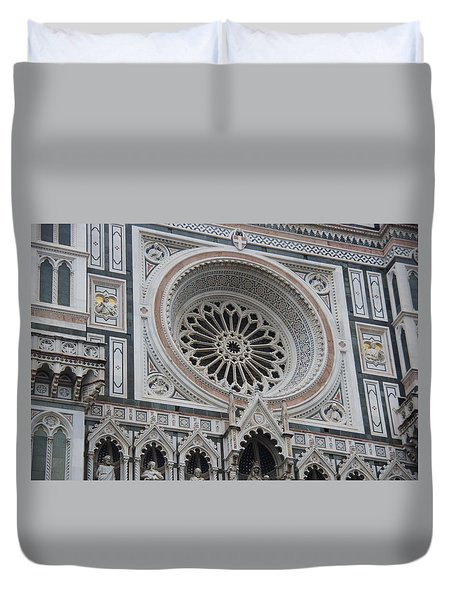 Notre Dame Duvet Cover by Debi Demetrion