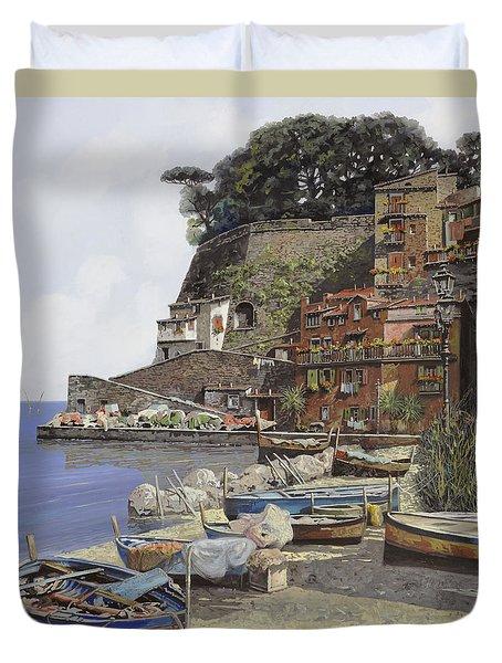 il porto di Sorrento Duvet Cover by Guido Borelli