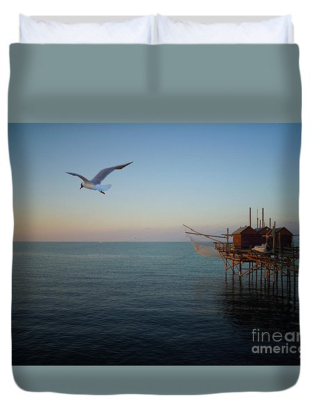 Il Trabucco - The Trebuchet Fishing Duvet Cover