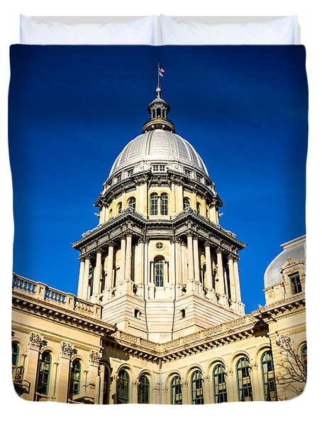 Illinois State Capitol Building In Springfield Duvet Cover by Paul Velgos