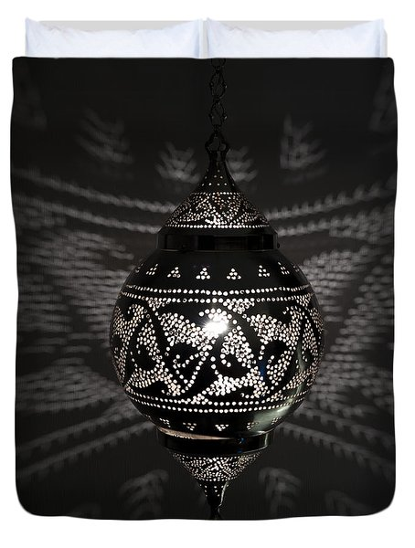 Illuminated Hanging Light Fixture Duvet Cover by Keith Levit