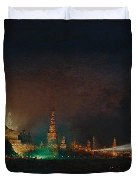 Illumination Of The Kremlin Duvet Cover
